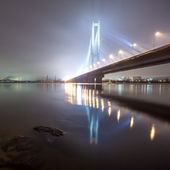 South bridge in winter. Ukraine. Kiev. — Stock Photo