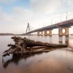 Moskovsky bridge in Kiev city — Stock Photo #46613321
