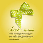 Gift cards and invitation with ribbons. Vector background. — Vector de stock