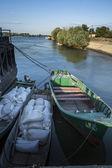 Sulina channel, Partizani village, Danube river Delta, Romania — Stock Photo