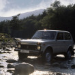 Stock Photo: RussiLad4x4 traverses river