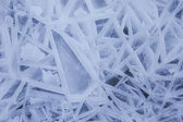 Abstract forms in the ice — Stock Photo