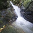 Waterfall on mountain river — Stock Photo