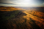 Autumn landscape from a hill — Stock Photo