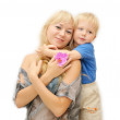 Smiling mother and little cute boy — Stock Photo #13416594