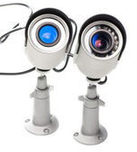 Day & Night Color surveillance video camera isolated on white background — Stock Photo