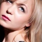 Beautiful blond woman portrait. Fashion photo — Stock Photo