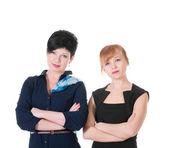 два серьезных деловых женщин — Стоковое фото