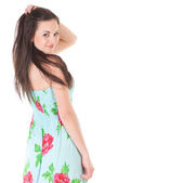 Attractive woman in summer dress — Stock Photo