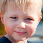 Smiling boy portrait. outdoor — Stock Photo