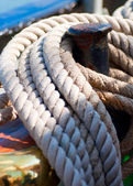 Ropes on deck — Stock Photo