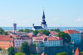 Cityscape picture taken in the Old Town of Tallinn — Stock Photo