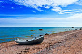 Old greek fisherman boat — Stock Photo