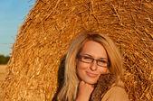 美しい若い女性の顔. — ストック写真