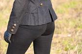 女子穿黑色裤子 — 图库照片