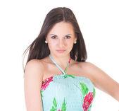 Atraktivní žena v letních šatech — Stock fotografie