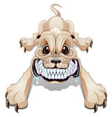 Angry dog — Vector de stock