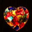 Heart - closeup of back lit stained  glass — Stock Photo