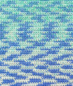 Background - crochet - variegated yarn — Stock Photo