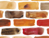 Brick wall - watercolour painting — Stock Photo