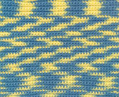 Background - crochet - variegated yarn — Stock Photo