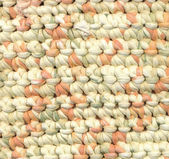Abstract background - closeup of crochet rag rug — Stock Photo