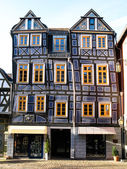 Sloping half-timbered House — Stock Photo