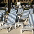 Abandoned Sunloungers — Stock Photo