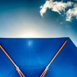 Blue Sunshade against blue Sky — Stock Photo