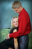 年轻的男人和女人 — 图库照片
