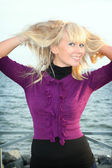 Blond young girl — Stock Photo