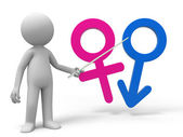 Female and male symbol — Stock Photo