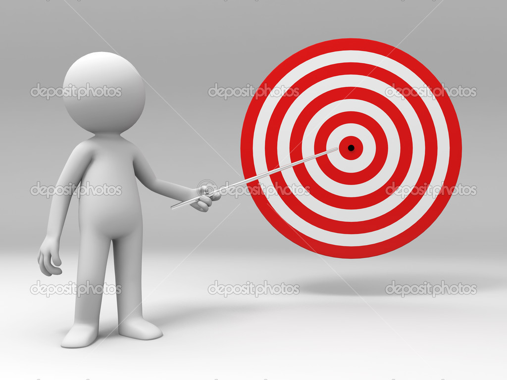 A is explaining the target — Stock Photo #13416450