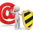Email sign — Stock Photo #13494096
