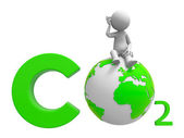 Co2 and earth — Stock Photo
