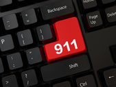 Keyboard with a word 911 — Stock Photo