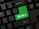 Tastatur mit einem Wort-wiki — Stockfoto