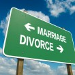 Marriage or divorce — Stock Photo