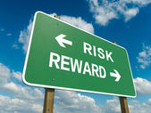 Risk reward — Stock Photo