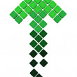 Stock Photo: Upload arrow icon made of green gradient cubes