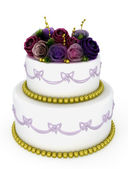 Wedding celebration cake — Stock Photo