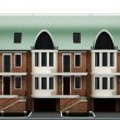 Facade terraced houses — ストック写真