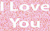 Inscription I love you made of pink hearts — Stock Photo