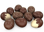 Chocolate candy easter eggs — Stock Photo