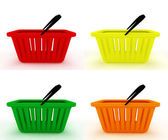 Set of colorful empty shopping basket. — Stock Photo