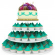 Multi tiered wedding celebration cake — Stock Photo #25938867