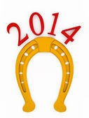 2014 new year of the horse. — Stock Photo