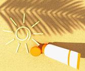 Tube of sunscreen — Stock Photo