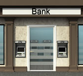 Facade of a bank branch with automated teller machine — Stock Photo