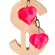 Concept of love and money — Stock Photo